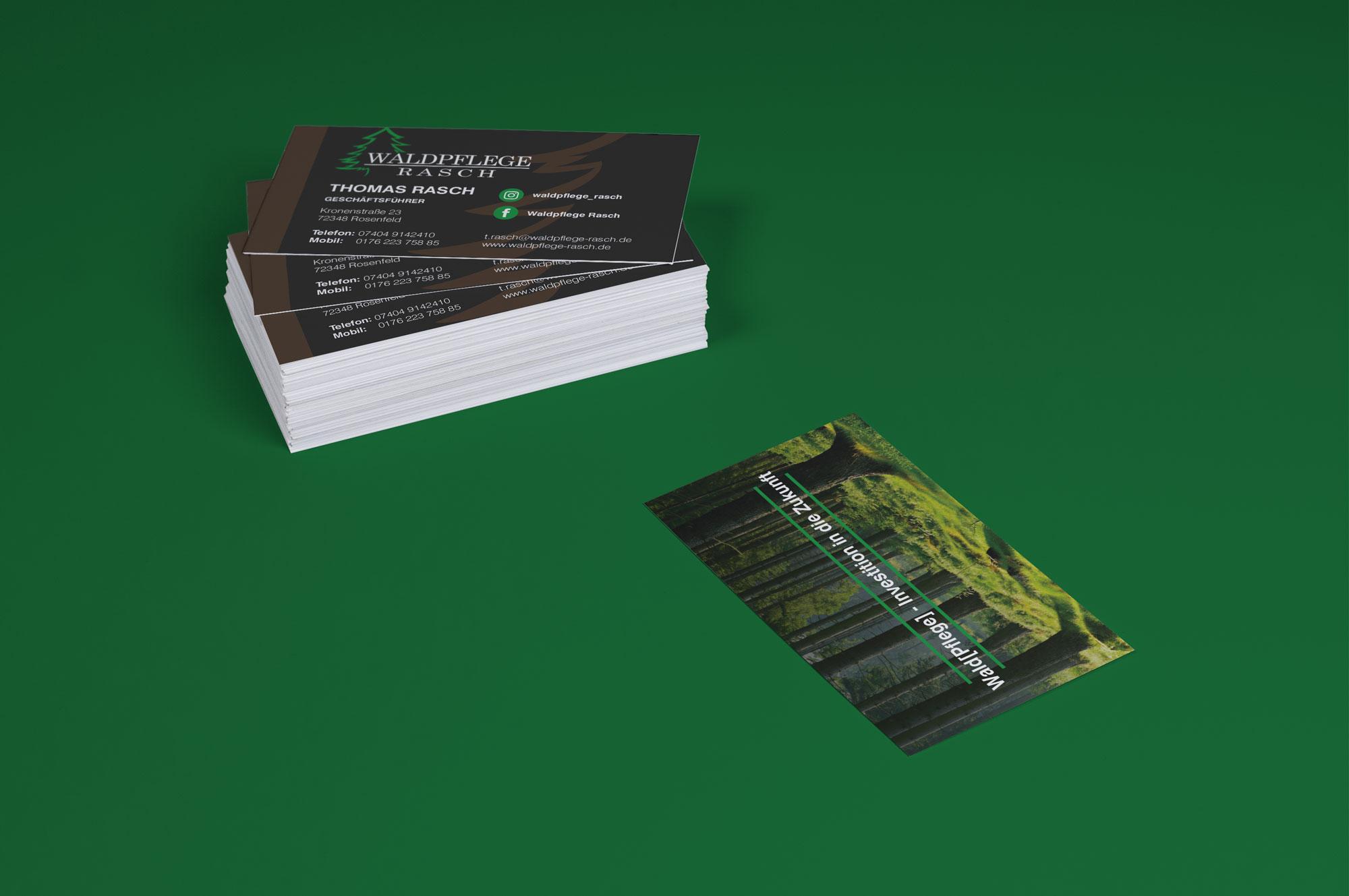 Visitenkarten Waldpflege Rasch